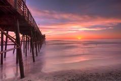 Oceanside Pier. Seascape San Diego, California Royalty Free Stock Photo