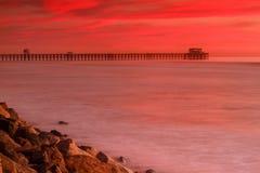 Oceanside Pier Sunset photo stock