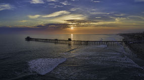 Oceanside Pier at sunset Stock Image