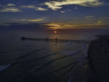 Oceanside Pier at sunset Stock Images