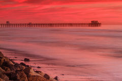 Oceanside Pier at Sunset Royalty Free Stock Photo