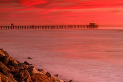 Oceanside Pier Sunset Stock Photo