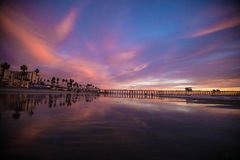 Oceanside pier Royalty Free Stock Images