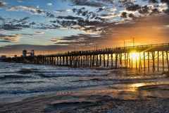 Oceanside sunset Royalty Free Stock Images