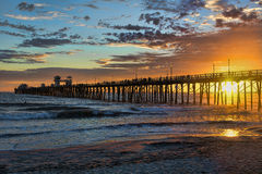 Oceanside sunset Stock Photo