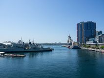 The Oceanside view at Australian National Maritime Museum located at Darling harbour. stock photo