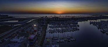 Oceansidehamn, Kalifornien, USA Royaltyfria Bilder