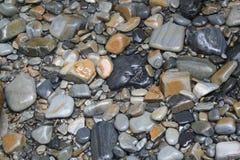 OCEANU łóżko kamienie zdjęcie stock
