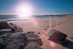 oceanu światło słoneczne Zdjęcia Stock