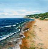 Oceanu brzeg zdjęcie stock