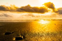 Oceanu brzeg morza piany bąble obraz stock