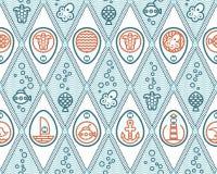Oceanu deseniowy rhombus obraz royalty free