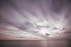 oceanu dramatyczny zmierzch Fotografia Stock