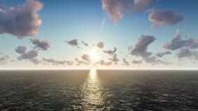 Oceanu horyzont Obrazy Royalty Free