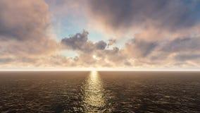 Oceanu horyzont Zdjęcie Stock