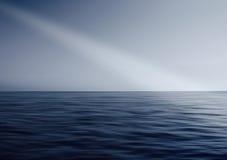 Oceanu horyzontu promień światło Fotografia Royalty Free
