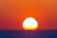 Oceanu horyzontu wschodu słońca krajobraz Obraz Royalty Free