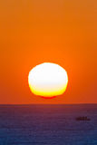 Oceanu horyzontu wschodu słońca krajobraz Obraz Stock