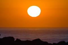 Oceanu horyzontu wschodu słońca krajobraz Fotografia Royalty Free