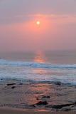 Oceanu horyzontu wschodu słońca linia brzegowa Zdjęcie Stock