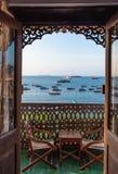Oceanu Indyjskiego seascape kamienia Unguja Zanzibar Grodzka wyspa Tanzania Afryka Wschodnia obrazy royalty free