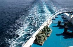 Oceanu śladu fala statek wycieczkowy Fotografia Stock