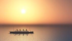 Oceanu liniowiec Obraz Royalty Free