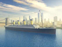 Oceanu liniowiec w Nowy Jork Obrazy Stock