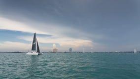 Oceanu Marina catamaran klasy żeglowanie Fotografia Stock