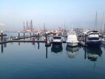 Oceanu marina jacht Zdjęcia Royalty Free