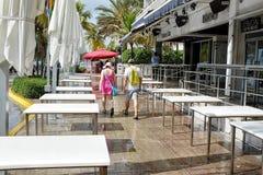 Oceanu Miami Prowadnikowa plaża obraz royalty free