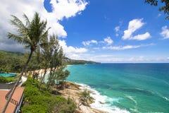 Oceanu morza kamienia plaża Fotografia Stock