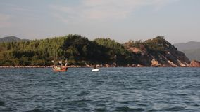 Oceanu połowu scena Wietnam Z dźwiękiem zbiory wideo