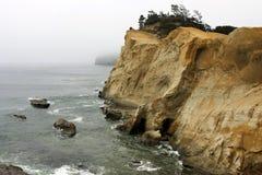 oceanu pomarańcze skała Zdjęcie Royalty Free