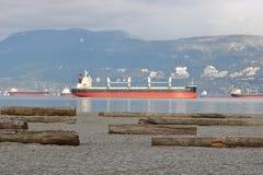 Oceanu przeznaczenia oceanu Freighter w Vancouver Zdjęcia Royalty Free