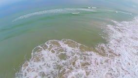 Oceanu przypływu toczne fala powietrzne zdjęcie wideo
