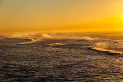 Oceanu ranku fala koloru krajobraz Obrazy Royalty Free