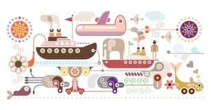 Oceanu rejs - podróż ilustracja wektor