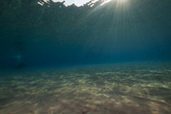 oceanu słońce Obrazy Royalty Free
