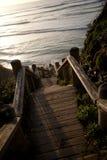 Oceanu schody Fotografia Stock