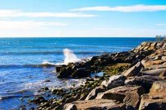 Oceanu Spotkań Ziemia Fotografia Stock