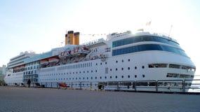 Oceanu statku wycieczkowego Costa Romantica Morze stacja wokalnie Obrazy Stock
