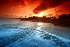 oceanu sunrice Obrazy Royalty Free