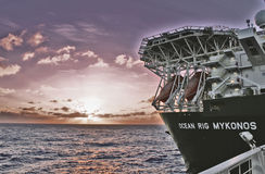 Oceanu takielunek Mykonos Zdjęcie Stock