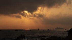 Oceanu wschodu słońca scena Wietnam Z dźwiękiem zdjęcie wideo