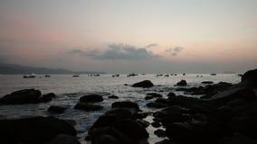 Oceanu wschodu słońca scena Wietnam Z dźwiękiem zbiory wideo