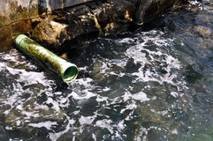 oceanu zanieczyszczenie Zdjęcia Stock