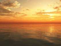 oceanu zmierzch Zdjęcia Royalty Free