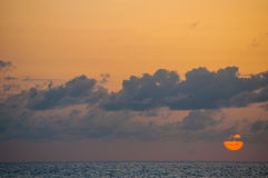 Oceanu zmierzch Haiti Fotografia Stock
