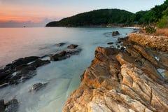 Oceanu zmierzch przy Koh Samet Zdjęcie Royalty Free